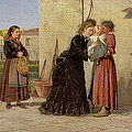 Visiting The Wet Nurse by Silvestro Lega