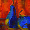 Vivid Pears Art Painting Print by Blenda Studio