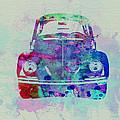 VW Beetle Watercolor 2 Print by Naxart Studio