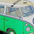 Vw Surf Bus by Cheryl Young