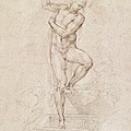 W53r The Risen Christ Study For The Fresco Of The Last Judgement In The Sistine Chapel Vatican by Michelangelo Buonarroti