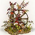 Wagon Wheel And Quail by Mary Mcgrath
