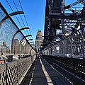 Walk across Sydney Harbour Bridge Print by Kaye Menner