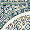 Wall Tiles Of Sibyl D Abd-el Rahman Kyahya From Arab Art As Seen Through The Monuments Of Cairo  by Emile Prisse d Avennes