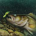 Walleye And Crank Bait by Jon Q Wright