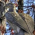 War Eagles - 28th Massachusetts Volunteer Infantry Rose Woods Near The Wheatfield Winter Gettysburg by Michael Mazaika