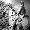 War Horses - 8th Pennsylvania Cavalry Regiment Pleasonton Avenue Sunset Autumn Gettysburg by Michael Mazaika