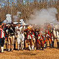 War - Revolutionary War - The musket drill Print by Mike Savad