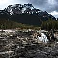 Water falls and moun...