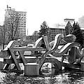 Water Sculpture In Spokane by Carol Groenen