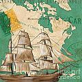 Watercolor Map 2 by Debbie DeWitt