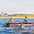 We Need A Biggah Boat Print by Jack Skinner