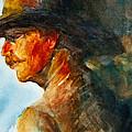 Weathered Cowboy Print by Jani Freimann