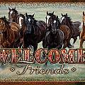Welcome Friends Horses by JQ Licensing