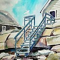 Wells Beach Beach Stairs by Scott Nelson