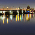 West Palm Beach At Night by Debra and Dave Vanderlaan