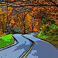 West Virginia Curves 2 Line Art by Steve Harrington