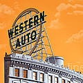 Western Auto Sign Artistic Sky by Andee Design