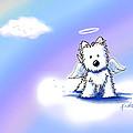 Westie Angel At Rainbow Bridge by Kim Niles