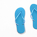 Where On Earth Is Spring - My Blue Flip Flops Are Waiting by Andee Design