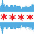 White Chicago Flag by Mike Maher