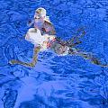 White Hair Blue Water 4 by Dietrich ralph  Katz