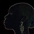 White Ink On Black Velvet by Carl Purcell