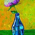 White Peony Into A Blue Bottle by Ana Maria Edulescu