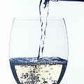 White wine pouring Print by Garry Gay