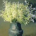 Wild Lilacs And Forget Me Nots by Isaak Ilyich Levitan
