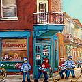 Wilensky Montreal-fairmount And Clark-montreal City Scene Painting by Carole Spandau