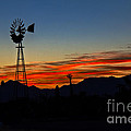 Windmill Silhouette by Robert Bales