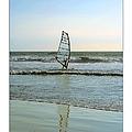 Windsurfing Art Poster - California Collection by Ben and Raisa Gertsberg