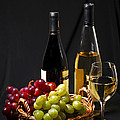 Wine and grapes Print by Elena Elisseeva