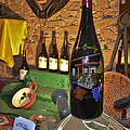 Wine Bottle On Display by Allen Sheffield