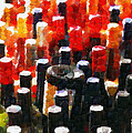 Wine Bottles In Cases Painting by Magomed Magomedagaev