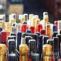 Wine Bottles Painting by Magomed Magomedagaev