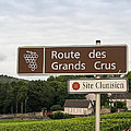 Wine route sign in F...