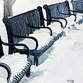 Winter Benches by Tom Riggs