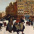 Winter In Amsterdam by Georg Hendrik Breitner