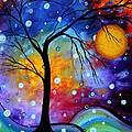WINTER SPARKLE Original MADART Painting Print by Megan Duncanson