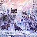 Winter Wolf Family  by Jan Patrik Krasny
