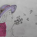 Wish Upon A Dandelion In Colour by Jennifer Schwab