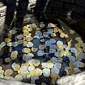 Wishing Well With Coins Perspective by Allan Swart
