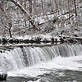 Wissahickon Waterfall In Winter by Bill Cannon