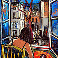 WOMAN AT WINDOW Poster by MONA EDULESCO