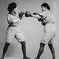 Woman Boxing by Digital Reproductions
