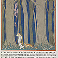 Woman Followed By A Leopard by Georges Barbier