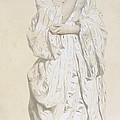Woman In A Dressing Gown by French School