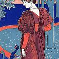 Woman With Peacocks by Louis John Rhead